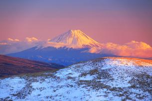 夕日に染まる富士山の写真素材 [FYI04295575]