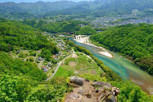 苗木城から中津川の眺めの写真素材 [FYI04296550]