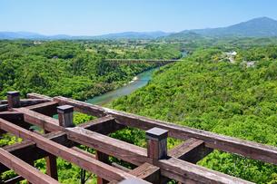 苗木城天守台からの眺めの写真素材 [FYI04296553]