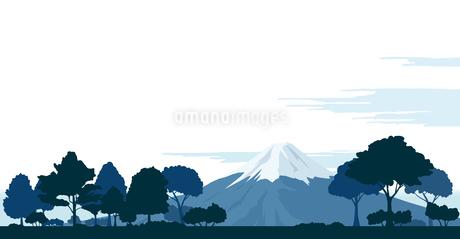 木々と富士山の風景のイラスト素材 [FYI04296670]