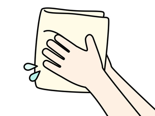 手を拭くのイラスト素材 [FYI04296802]