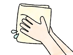 手を拭く-水彩のイラスト素材 [FYI04296803]