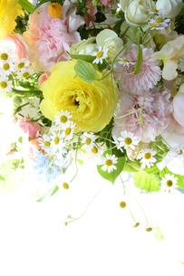 春の花のフラワーアレンジメントの写真素材 [FYI04297207]
