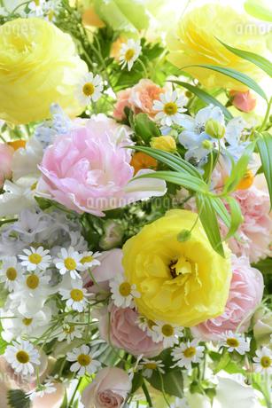 春の花のフラワーアレンジメントの写真素材 [FYI04297217]