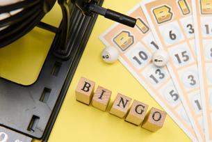 bingo アルファベットスタンプをならべて単語にした素材の写真素材 [FYI04297230]