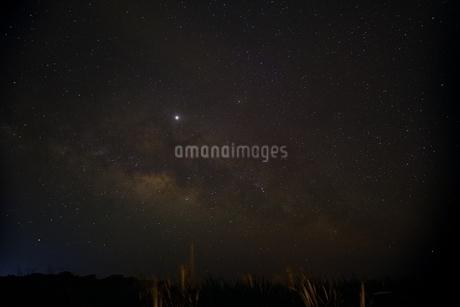 日本最南端の有人島「波照間島」の星空の写真素材 [FYI04297309]