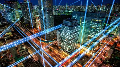 5G-第5世代移動通信システム・リモートワーク・スマートシティ・ネットワークの写真素材 [FYI04297315]