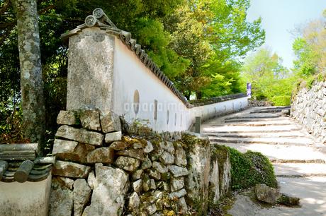 備中松山城の土塀の写真素材 [FYI04297374]