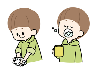 手洗い-うがい-男の子のイラスト素材 [FYI04297679]