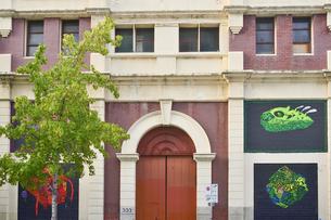 オーストラリア・パースシティの外壁に絵画のアートをあしらった建物の写真素材 [FYI04297873]