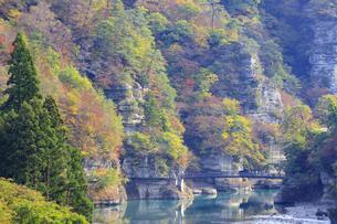 福島県 大川羽鳥県立公園 塔のへつりの写真素材 [FYI04297949]