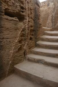 キプロスの遺跡の階段の写真素材 [FYI04298109]