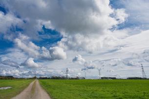 雲の多い空の写真素材 [FYI04298721]