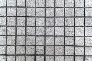 四角の石材タイルの背景素材の写真素材 [FYI04299071]