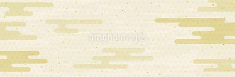 和風雲と伝統柄の背景のイラスト素材 [FYI04299235]