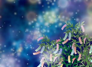 七夕飾りと空のイラスト素材 [FYI04299433]