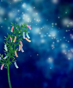七夕飾りと空のイラスト素材 [FYI04299434]
