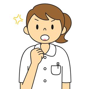 白衣姿の若い女性 ガッツポーズ イラストのイラスト素材 [FYI04299539]