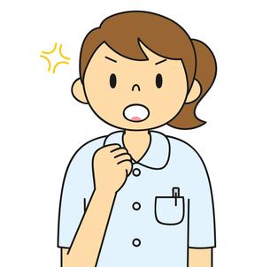 白衣姿の若い女性 ガッツポーズ イラストのイラスト素材 [FYI04299541]