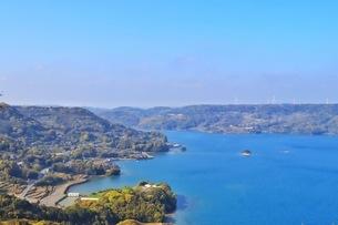 展望台から見える長崎県福島市の風景の写真素材 [FYI04299856]