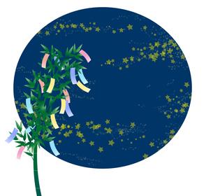 七夕飾りと星のイラスト素材 [FYI04300355]