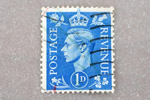 切手 イギリス stamp  England  Gorge 6世 King コレクション 趣味 使用済み の写真素材 [FYI04300366]
