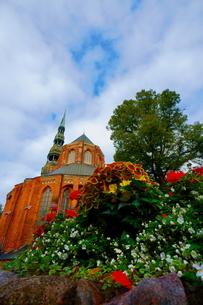 聖ペテロ教会と花の写真素材 [FYI04300722]