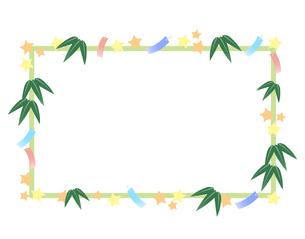 七夕祭りフレームのイラスト素材 [FYI04300769]