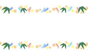 七夕祭りフレームのイラスト素材 [FYI04300770]