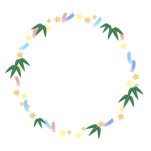七夕祭りフレームのイラスト素材 [FYI04300771]