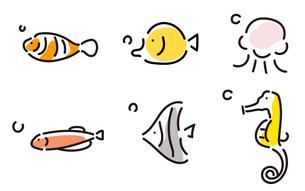 かわいい魚たち1のイラスト素材 [FYI04300871]