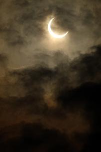 金環日食 2012年5月 日本 Annular solar eclipse 太陽 月の写真素材 [FYI04300885]