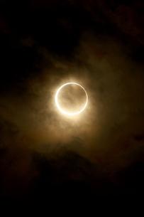 金環日食 2012年5月 日本 Annular solar eclipse 太陽 月の写真素材 [FYI04300892]