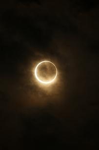 金環日食 2012年5月 日本 Annular solar eclipse 太陽 月の写真素材 [FYI04300893]