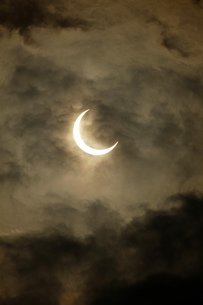 金環日食 2012年5月 日本 Annular solar eclipse 太陽 月の写真素材 [FYI04300895]