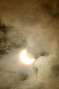 金環日食 2012年5月 日本 Annular solar eclipse 太陽 月の写真素材 [FYI04300898]