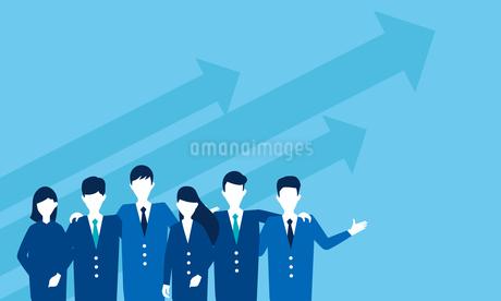 ビジネスマン、チームワークのイメージのイラスト素材 [FYI04300935]