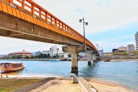 唐津城の城内橋の写真素材 [FYI04301023]