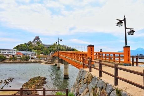 唐津城と城内橋の写真素材 [FYI04301027]