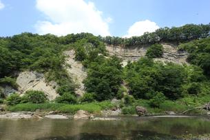 埼玉県小鹿野町にあるパレオパラドキシアが発見された地層 パレオパラジオパーク秩父の写真素材 [FYI04301283]