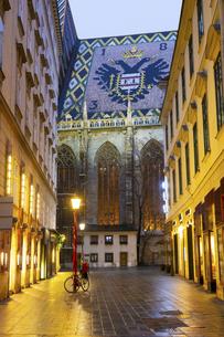 シュテファン大聖堂を望む ウィーン旧市街  オーストリアの写真素材 [FYI04302083]