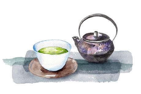 日本茶水彩画のイラスト素材 [FYI04302263]