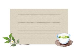 日本茶カードのイラスト素材 [FYI04302269]