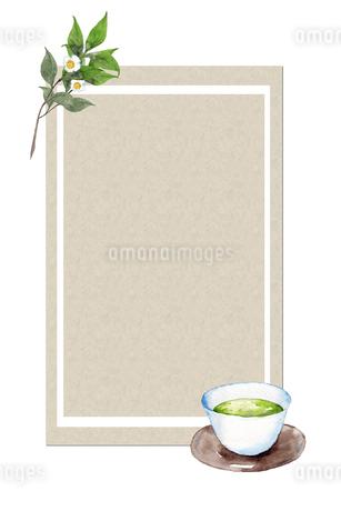 日本茶フレームのイラスト素材 [FYI04302448]
