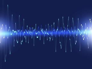 振動 電波 波形 うねり デジタル 心電図 通信 のイラスト素材 [FYI04302903]
