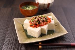 豆腐料理の写真素材 [FYI04302929]