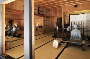 徳川幕府が設置した箱根関所の復元 シルエット展示方法の写真素材 [FYI04302989]