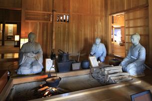 徳川幕府が設置した箱根関所の復元 シルエット展示方法の写真素材 [FYI04302990]