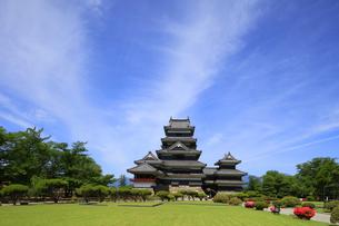 現存する日本最古の五重天守の松本城 日本100名城の写真素材 [FYI04303481]