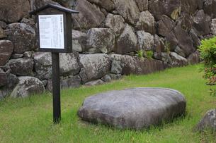 現存する日本最古の五重天守の松本城 日本100名城 太鼓楼の基石の写真素材 [FYI04303501]